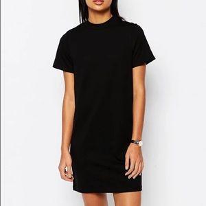 ASOS Black 100% Cotton T-shirt Dress